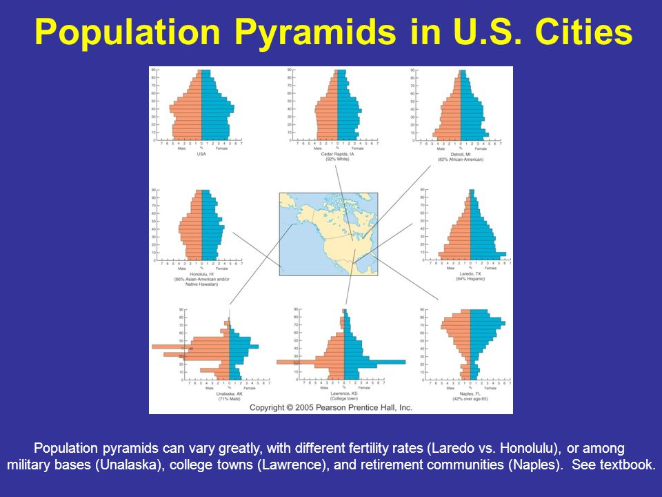 Population Pyramids in U.S. Cities