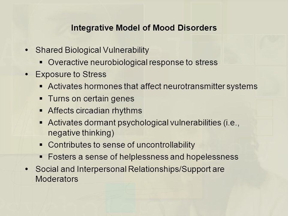 Integrative Model of Mood Disorders