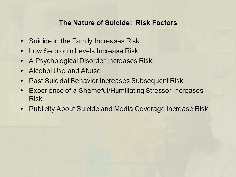 The Nature of Suicide: Risk Factors
