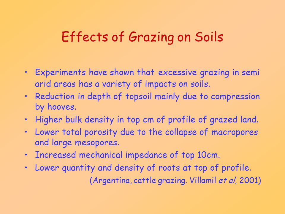Effects of Grazing on Soils