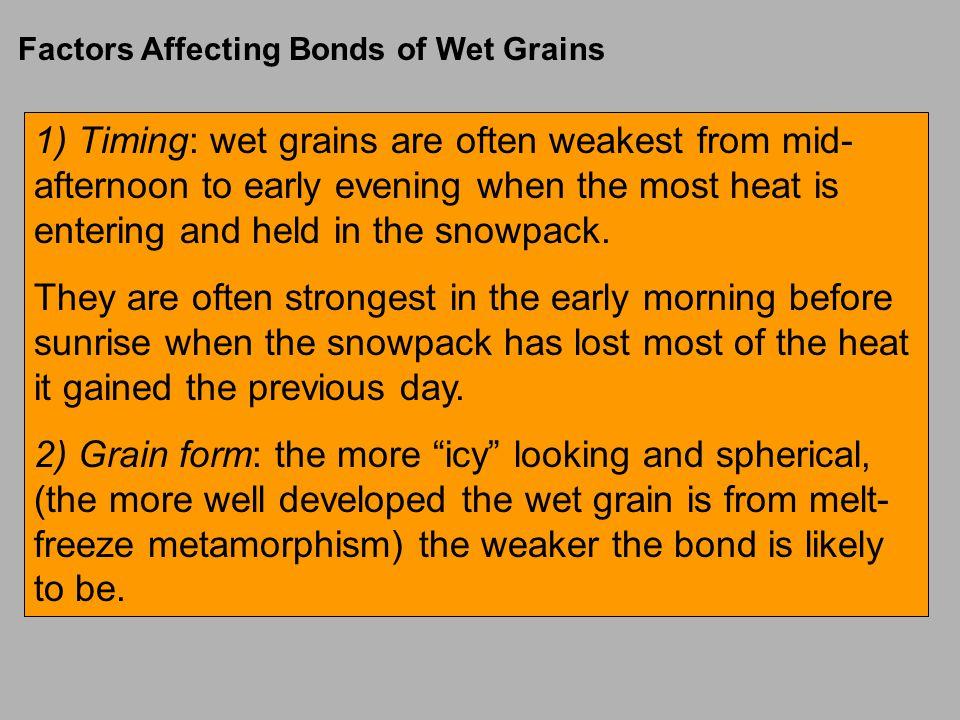 Factors Affecting Bonds of Wet Grains