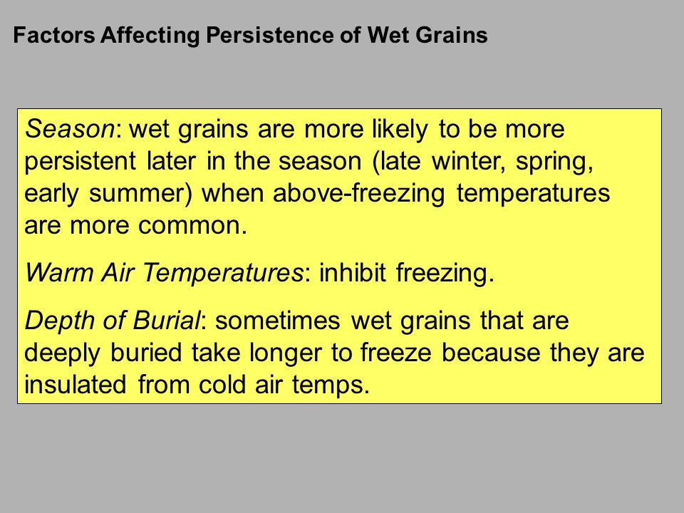 Warm Air Temperatures: inhibit freezing.