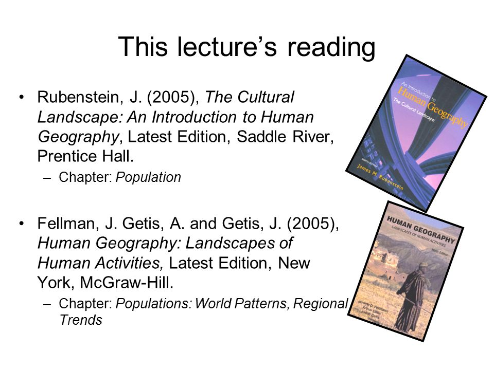This lecture's reading