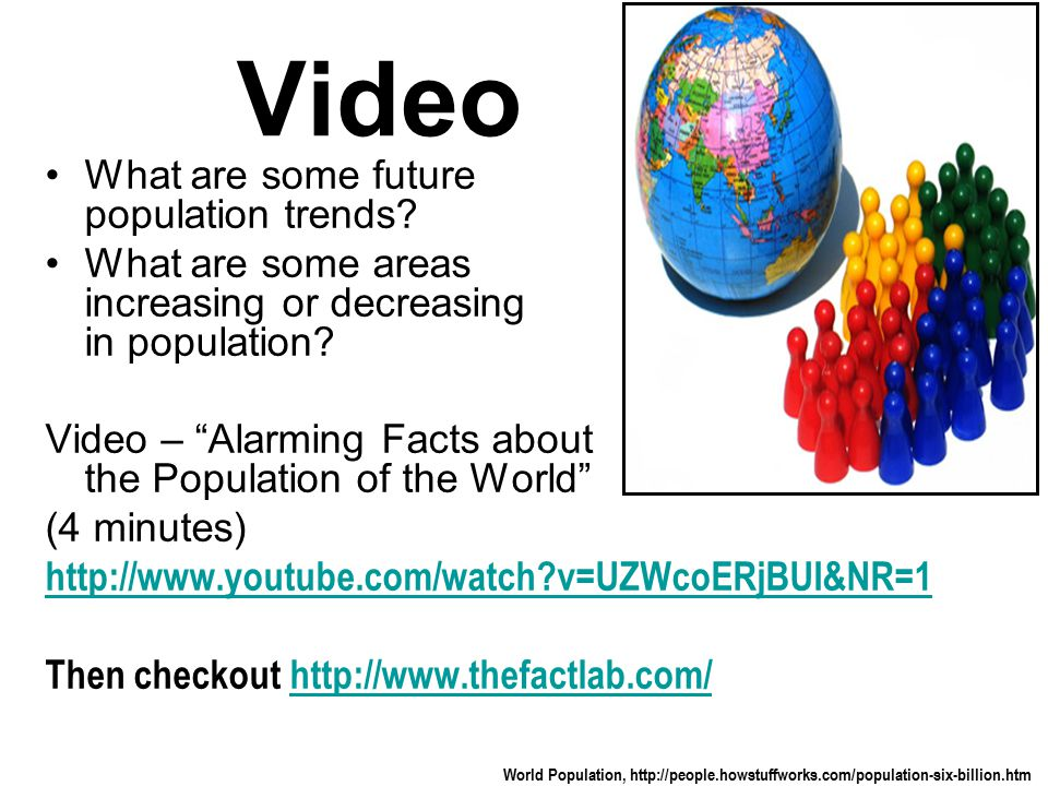 Video What are some future population trends