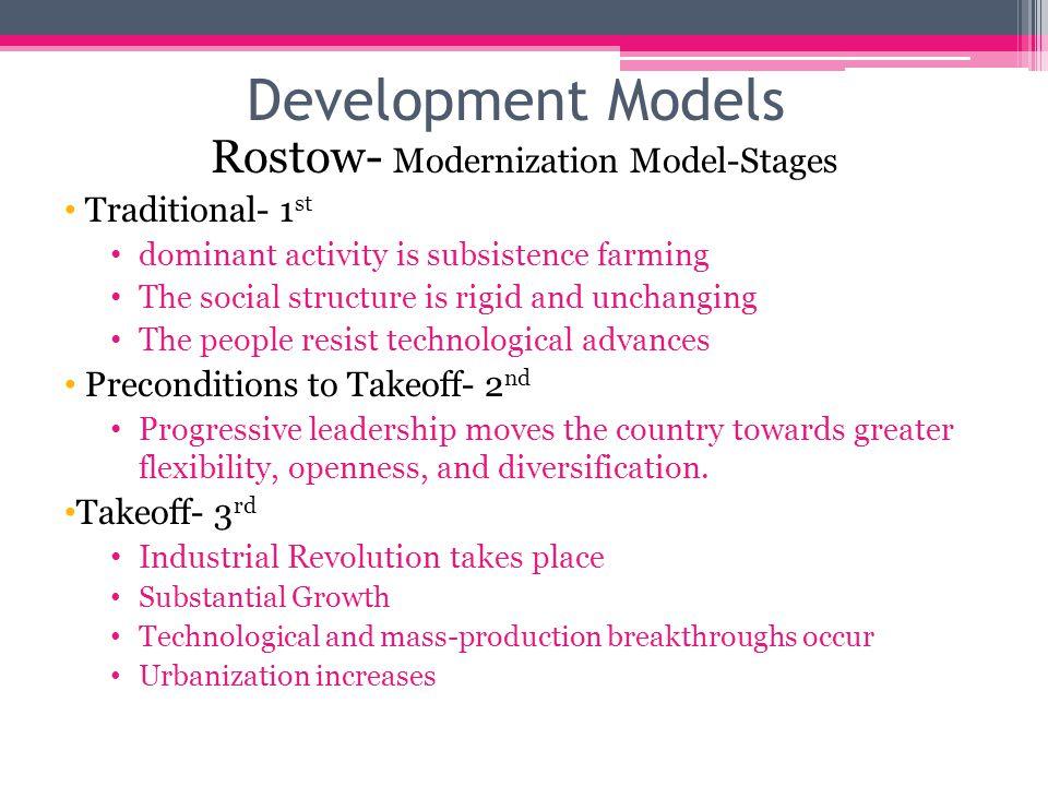Rostow- Modernization Model-Stages