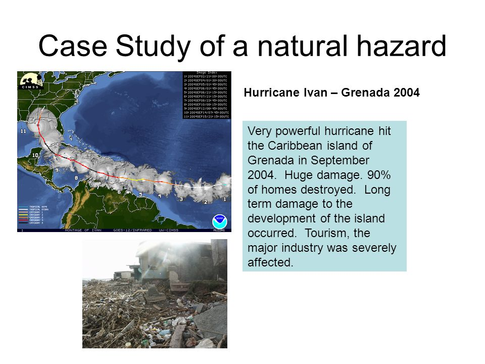 Case Study of a natural hazard