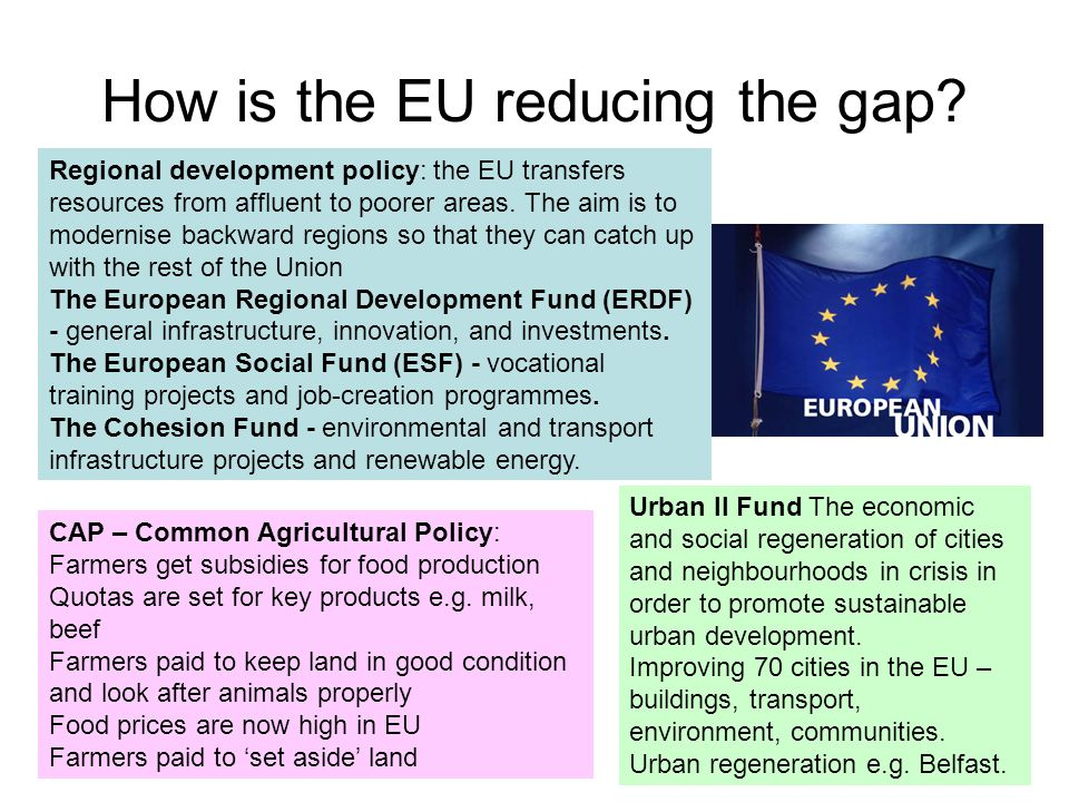How is the EU reducing the gap