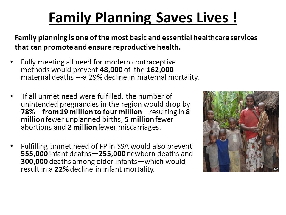 Family Planning Saves Lives !