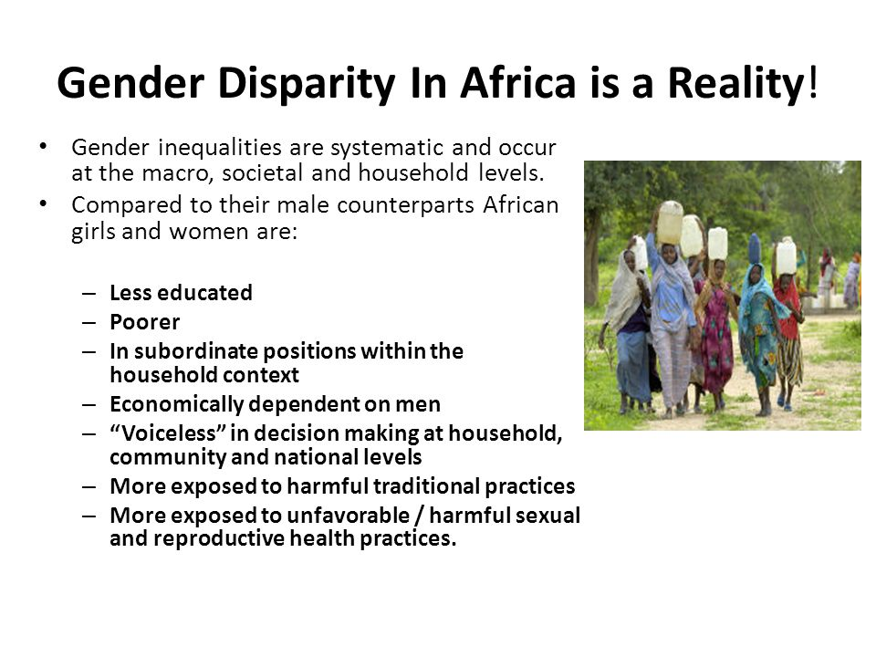 Gender Disparity In Africa is a Reality!