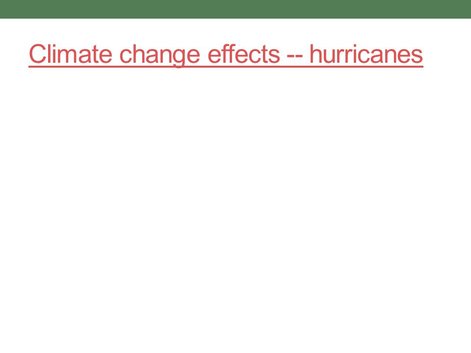 Climate change effects -- hurricanes