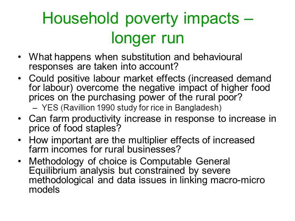 Household poverty impacts – longer run