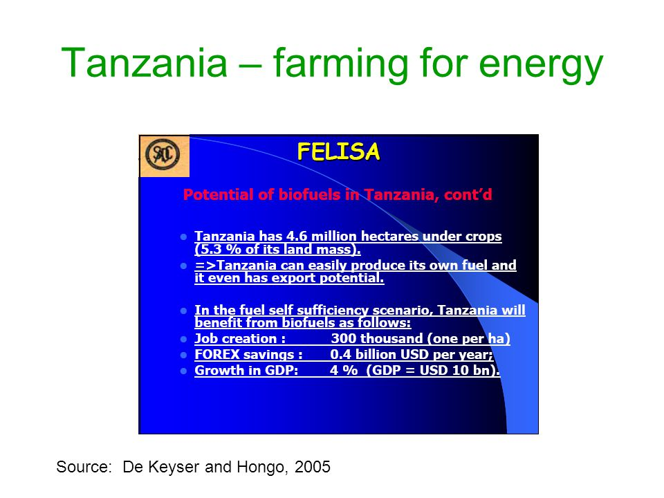 Tanzania – farming for energy