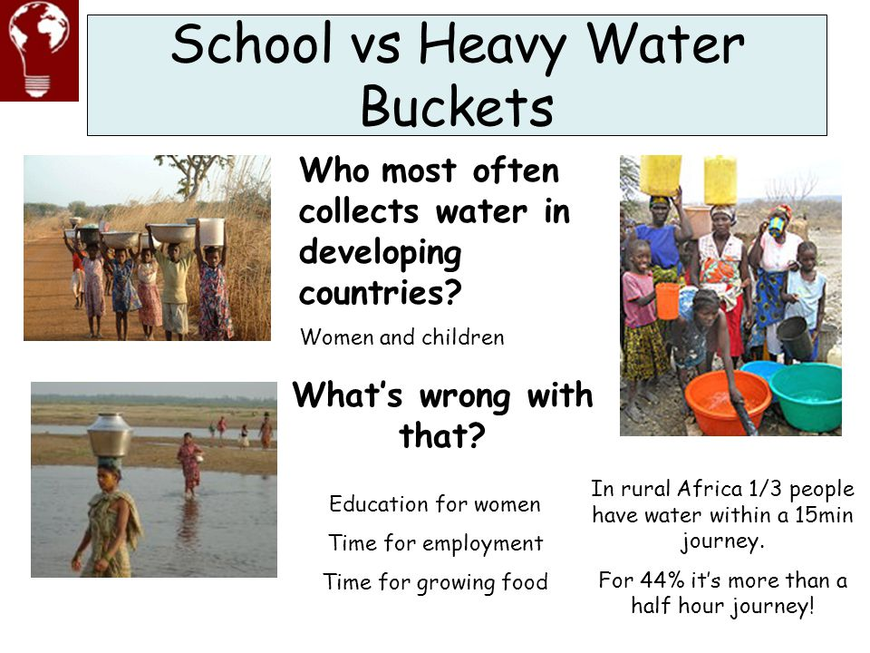 School vs Heavy Water Buckets