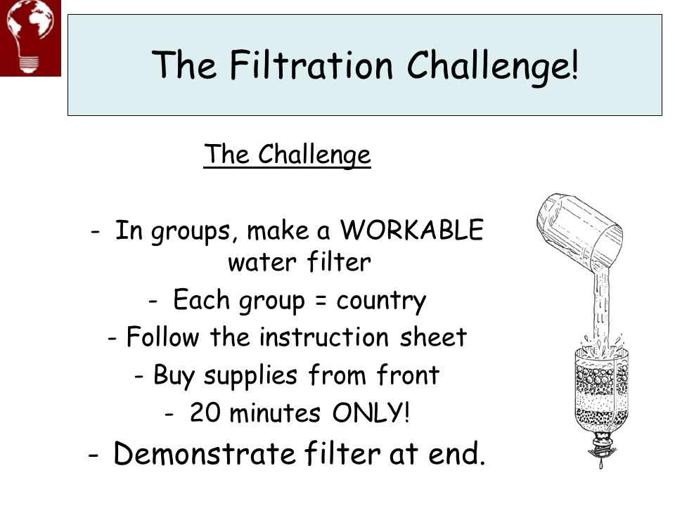 The Filtration Challenge!
