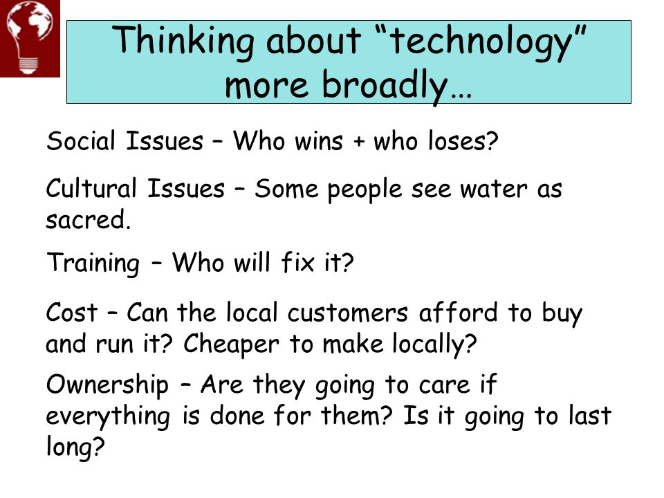 Thinking about technology more broadly…