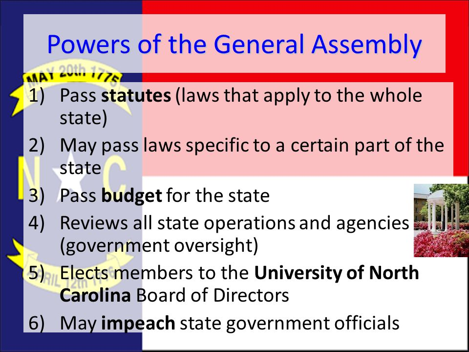 Powers of the General Assembly
