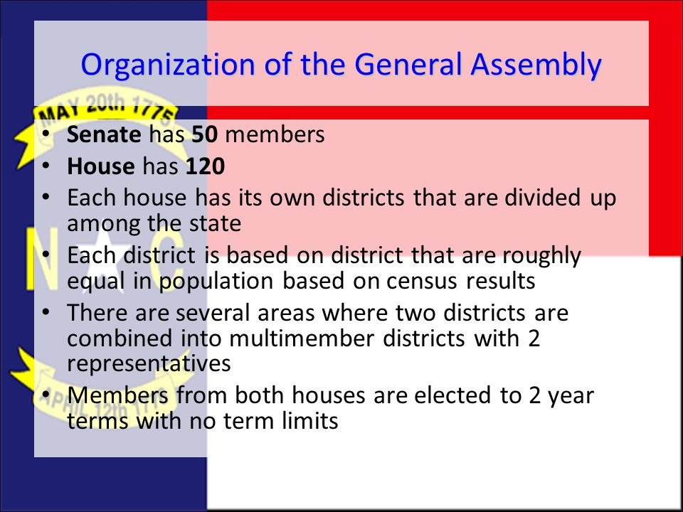 Organization of the General Assembly