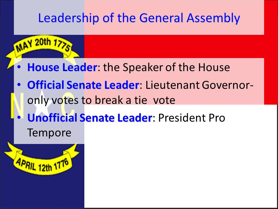 Leadership of the General Assembly