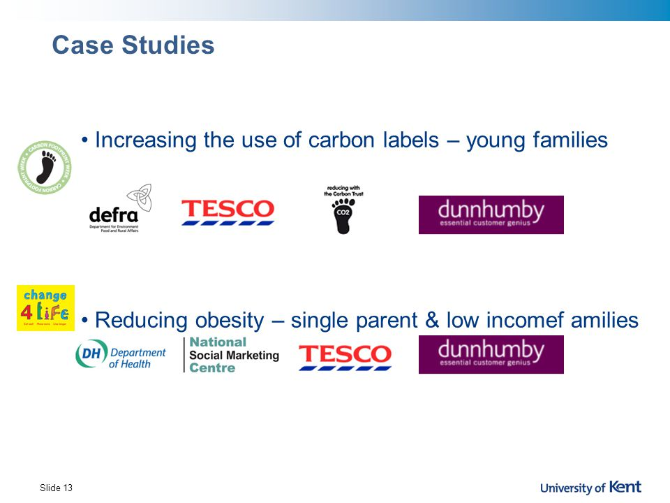 Case Studies Increasing the use of carbon labels – young families