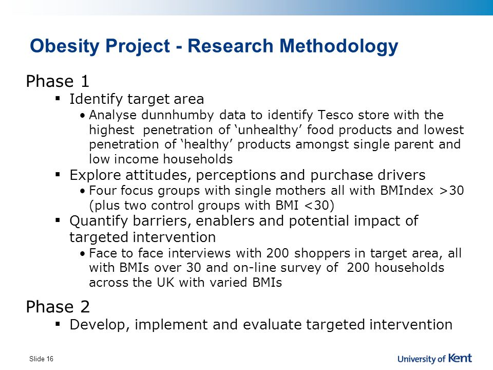 Obesity Project - Research Methodology