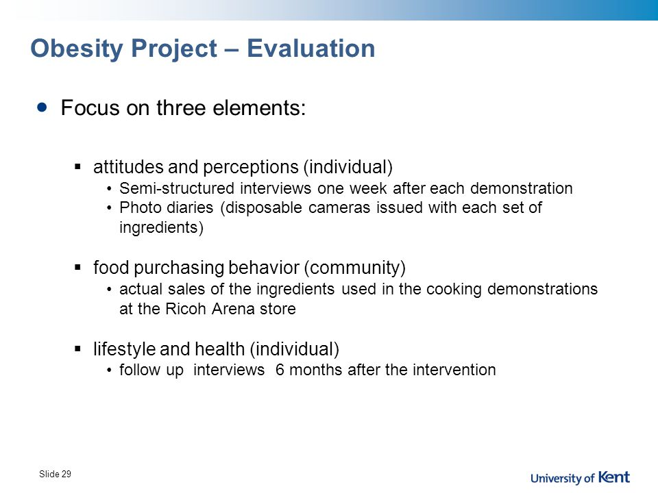Obesity Project – Evaluation