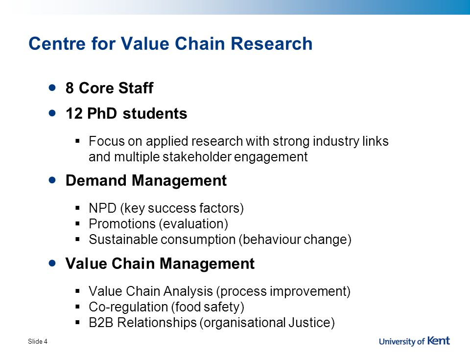 Centre for Value Chain Research