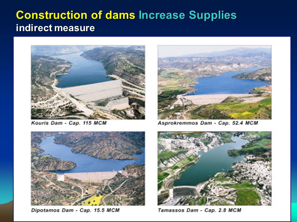 Construction of dams Increase Supplies indirect measure