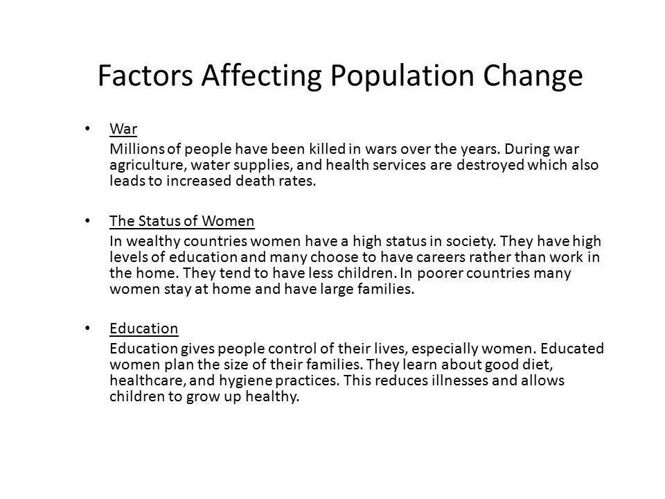 Factors Affecting Population Change