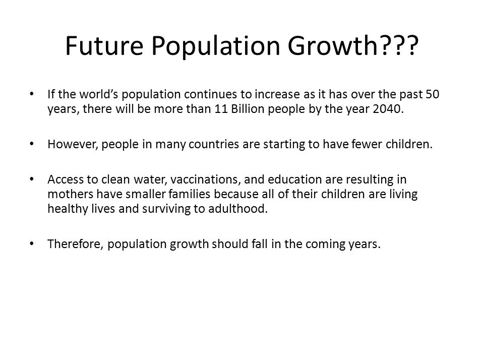 Future Population Growth