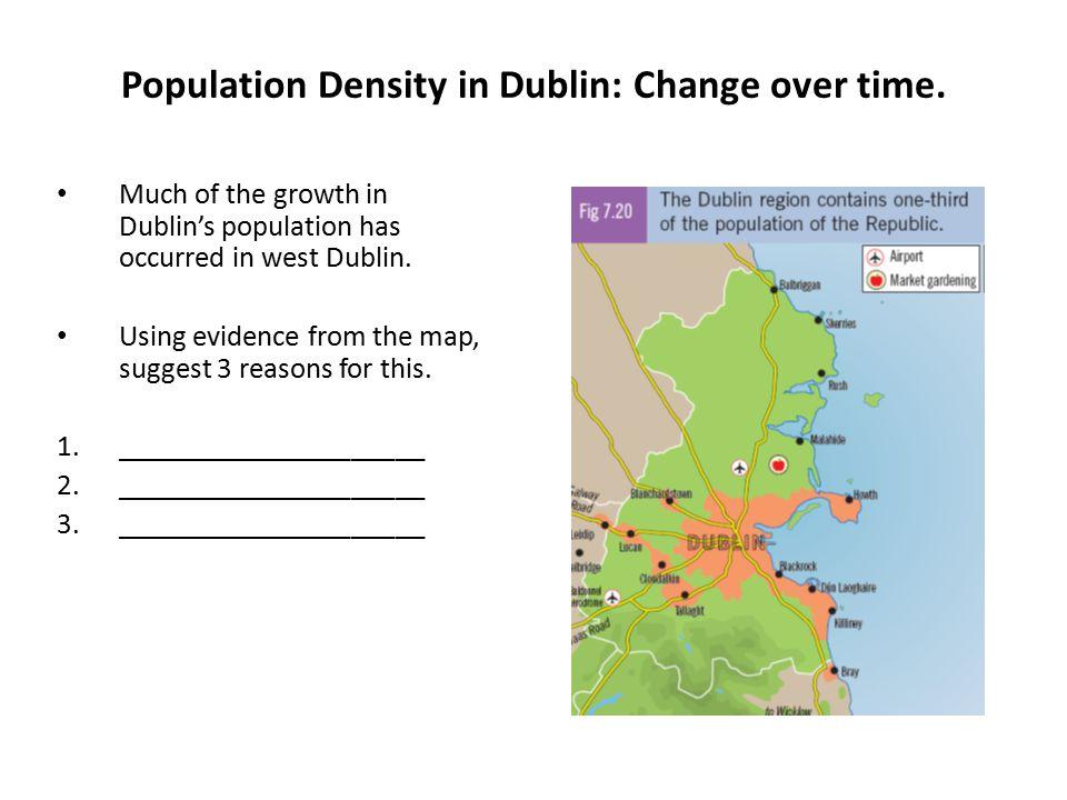 Population Density in Dublin: Change over time.