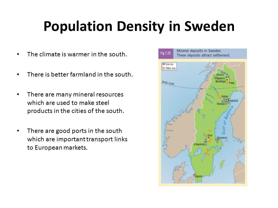 Population Density in Sweden