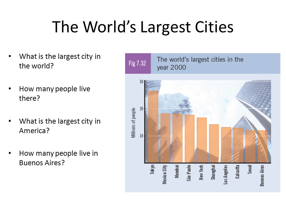 The World's Largest Cities