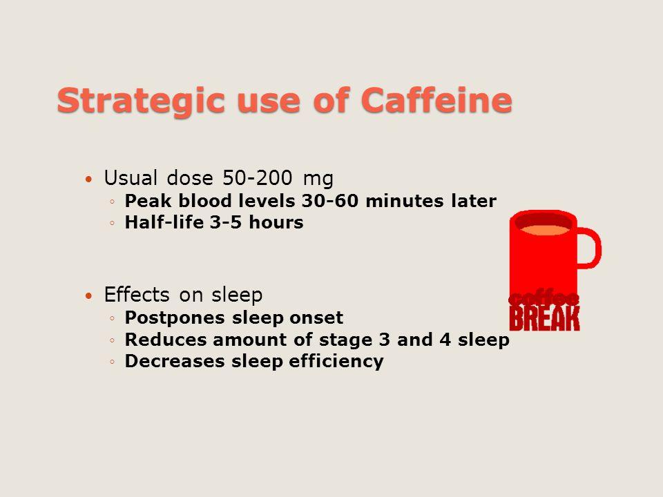 Strategic use of Caffeine