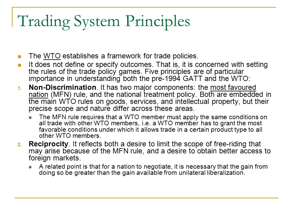 Trading System Principles