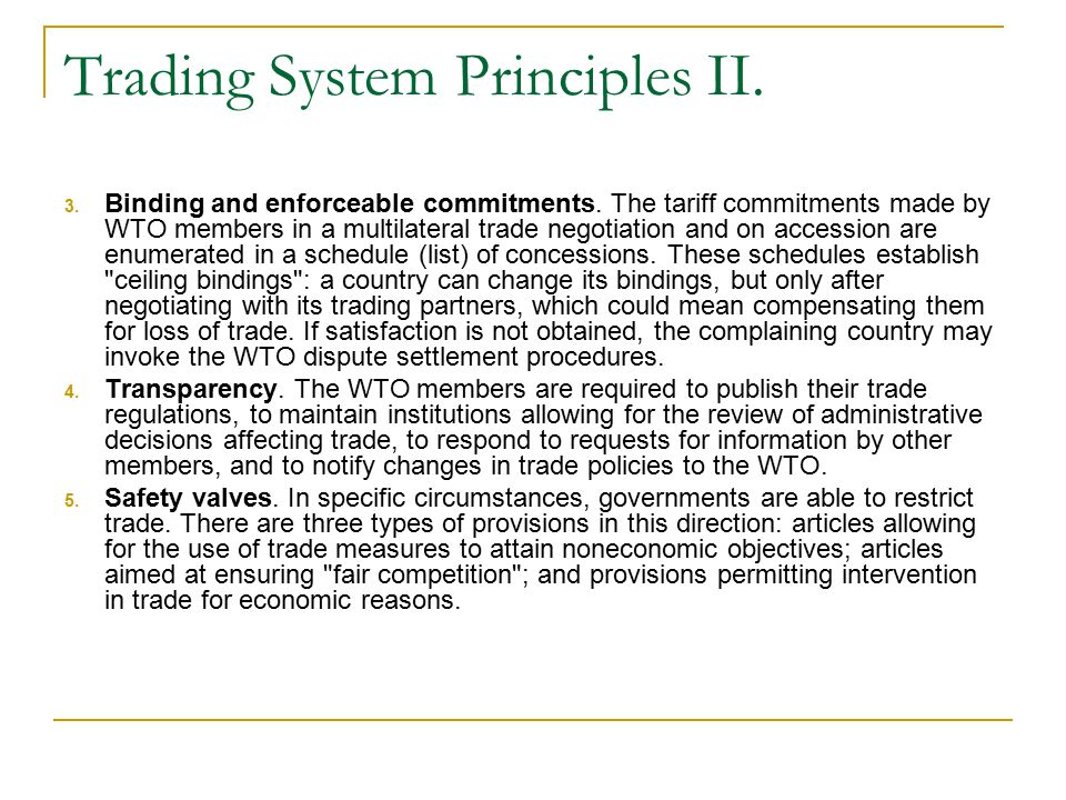 Trading System Principles II.