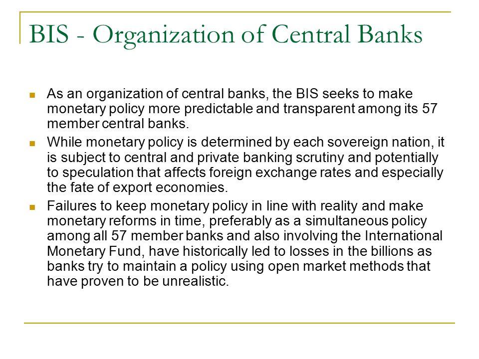 BIS - Organization of Central Banks