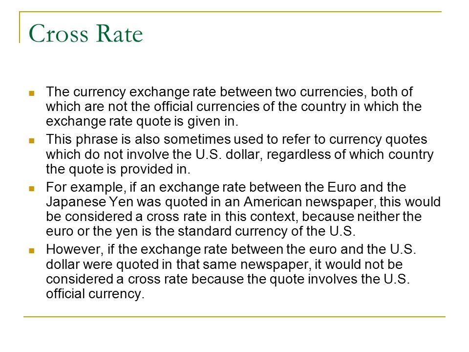 Cross Rate