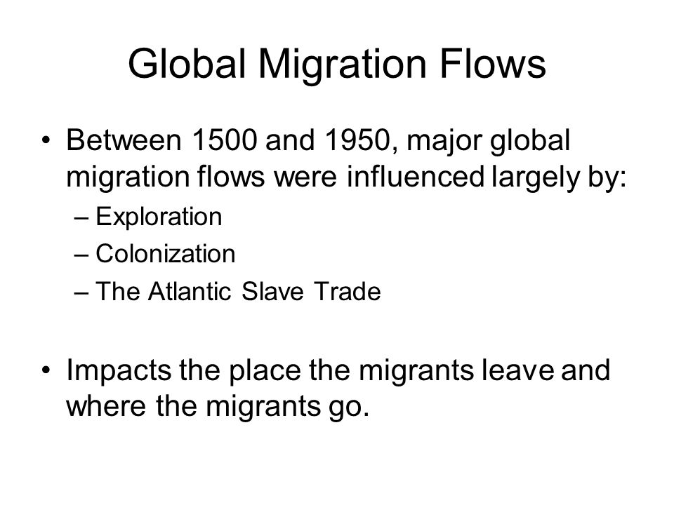 Global Migration Flows