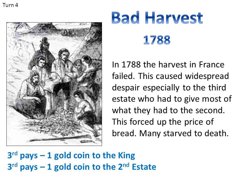 Turn 4 Bad Harvest. 1788.