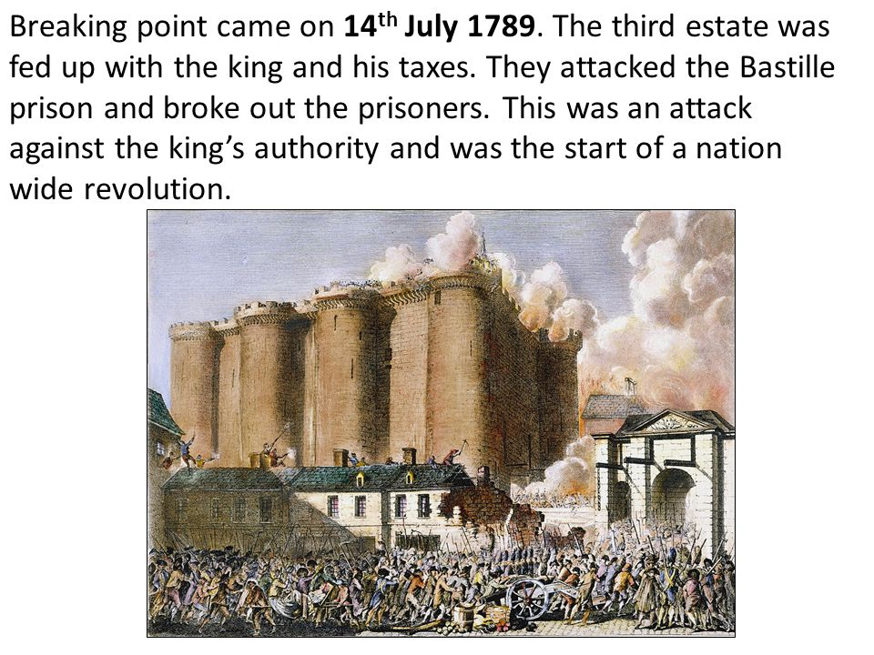 Breaking point came on 14th July 1789