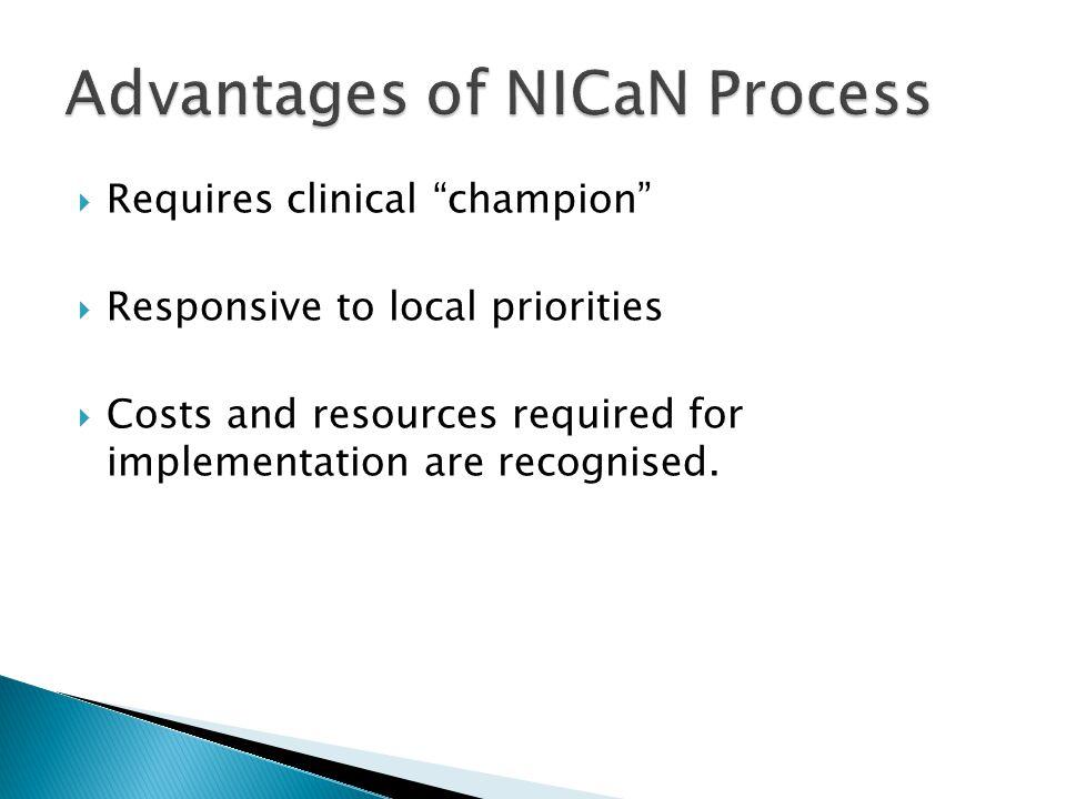 Advantages of NICaN Process