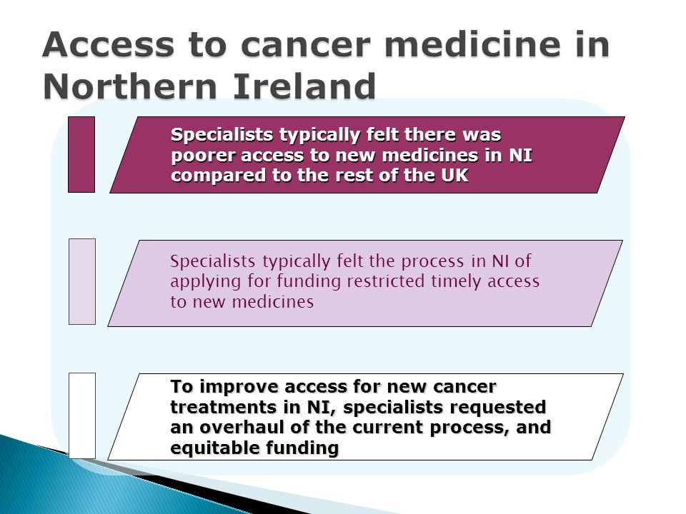 Access to cancer medicine in Northern Ireland