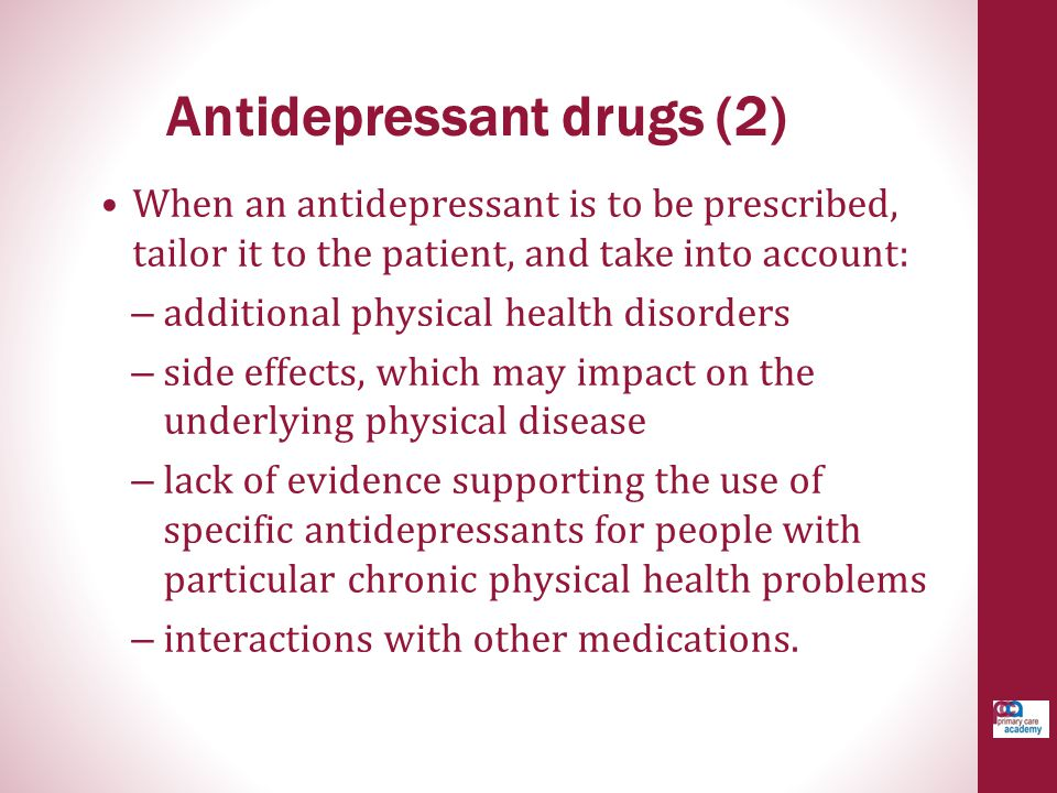 Antidepressant drugs (2)