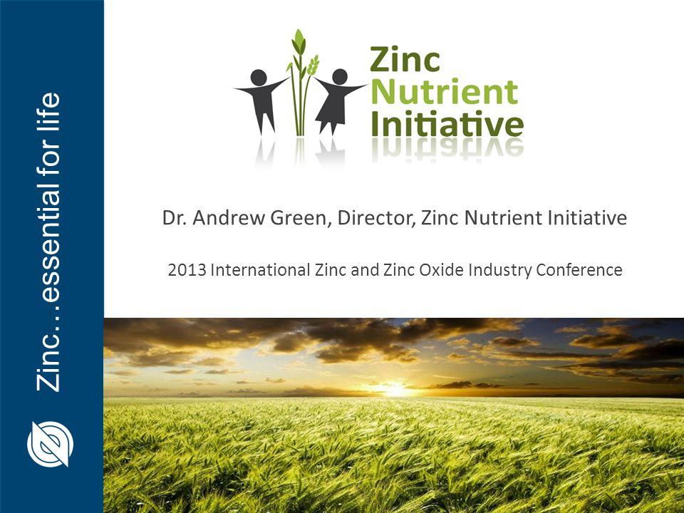 Dr. Andrew Green, Director, Zinc Nutrient Initiative