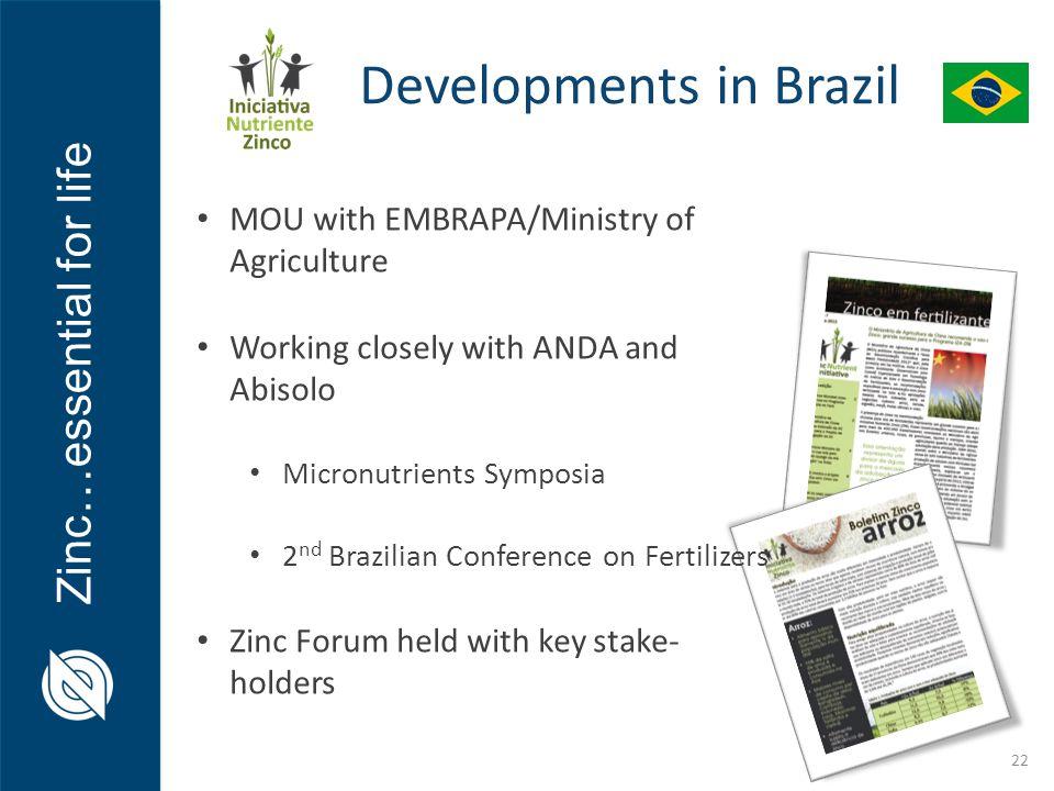 Developments in Brazil