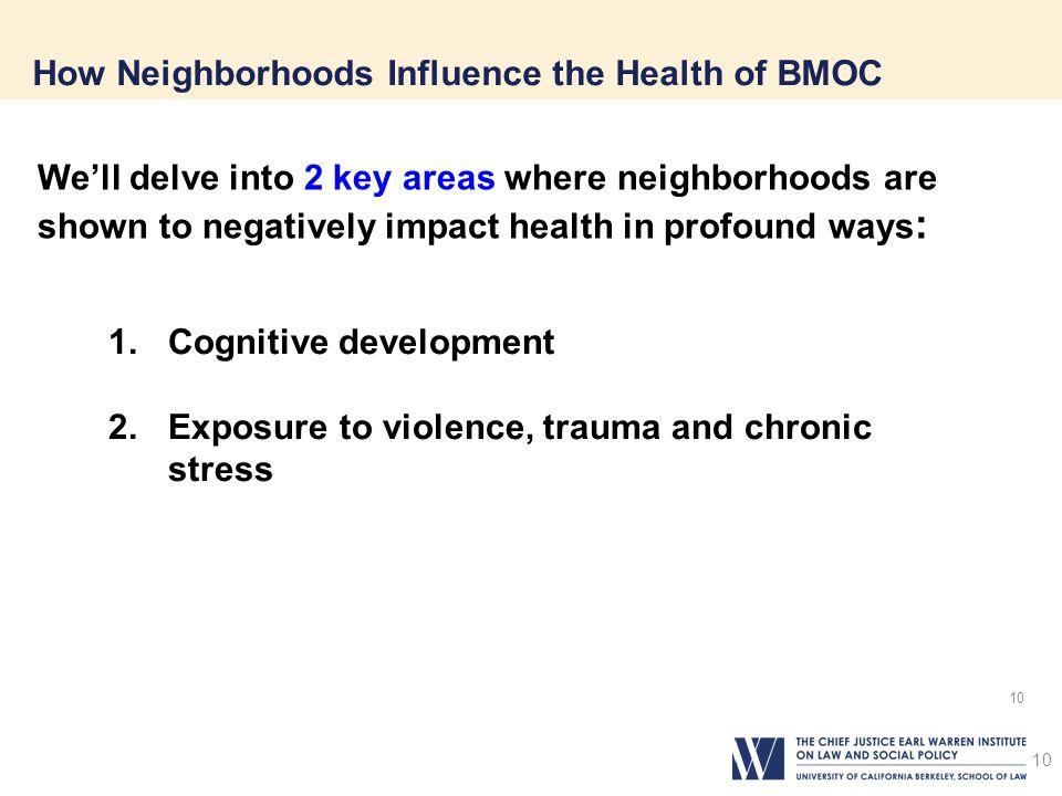 How Neighborhoods Influence the Health of BMOC