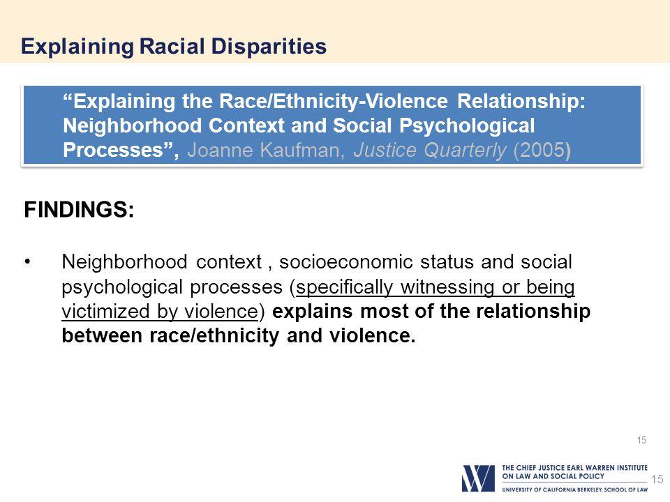 Explaining Racial Disparities