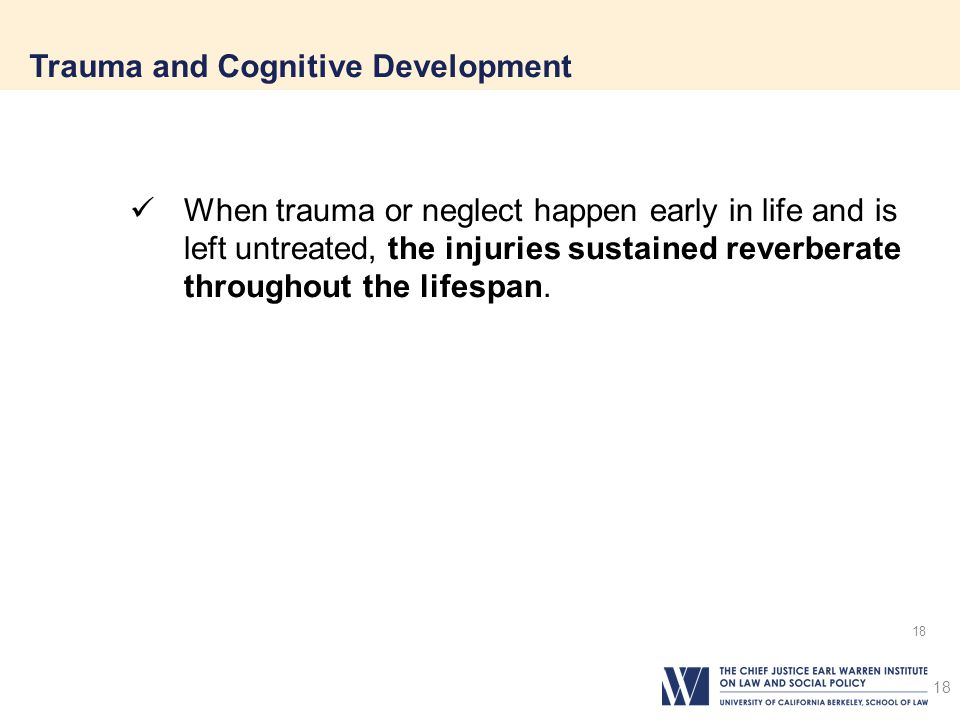 Trauma and Cognitive Development