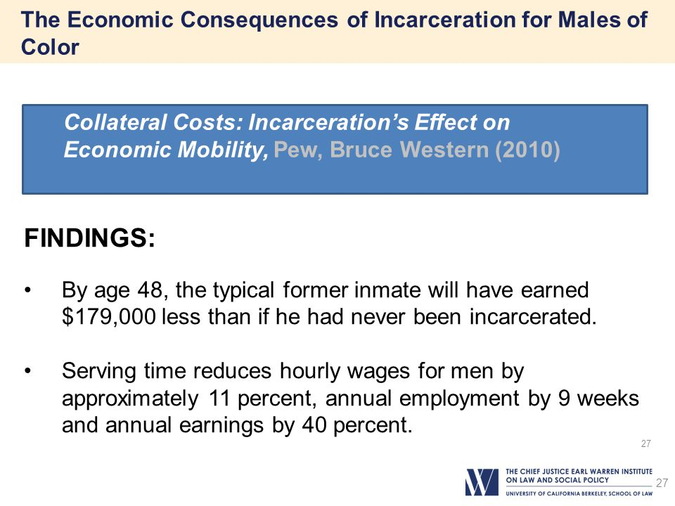 The Economic Consequences of Incarceration for Males of Color