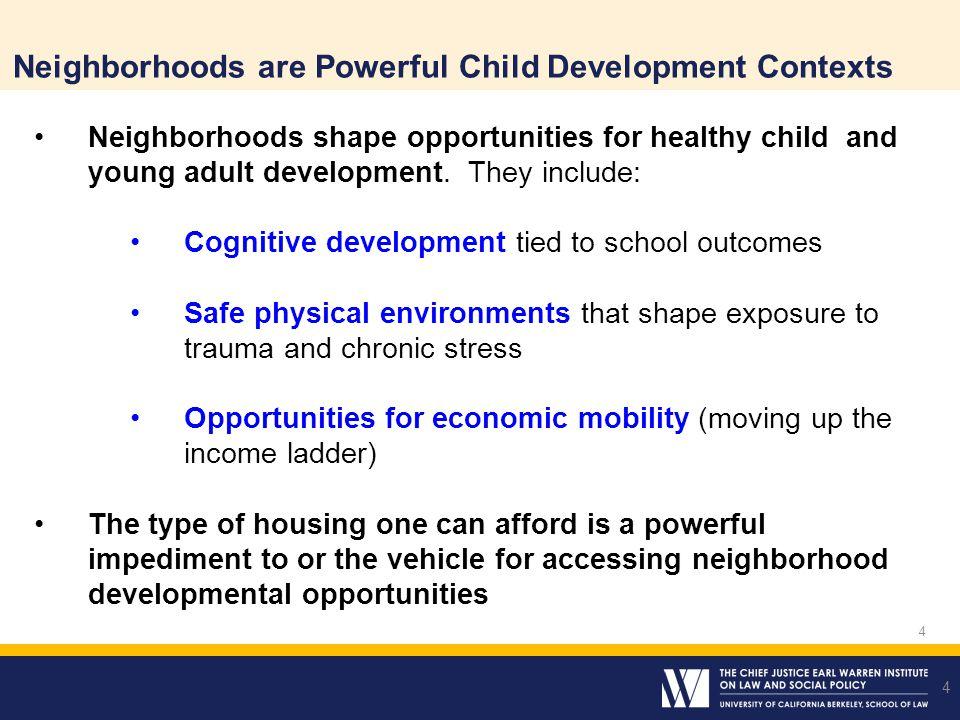 Neighborhoods are Powerful Child Development Contexts
